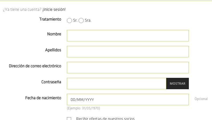 Crear nuevos campos en el formulario de registro