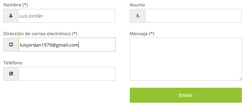 Contact form7 con inputs mejorados