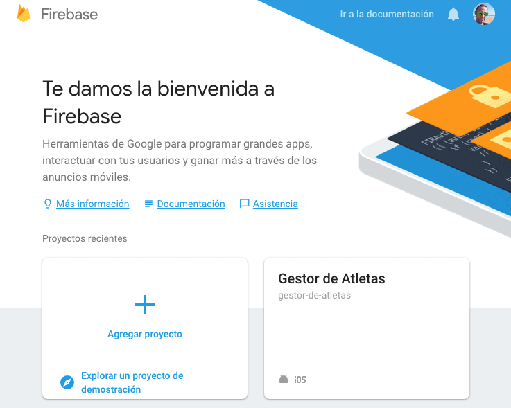 Página de firebase cloud messaging